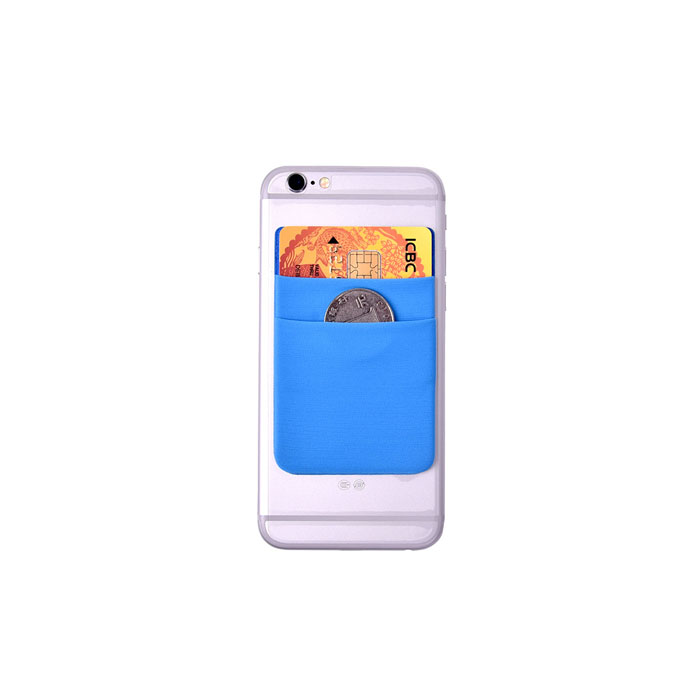 Custom Logo Lycra Cell Phone Card Wallet