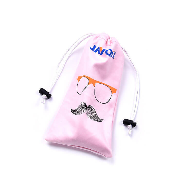 Custom Logo Microfiber Glasses Bag